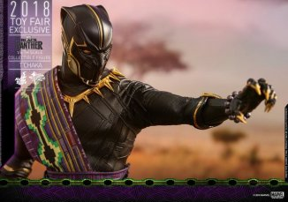 hot toys black panther t'chaka figure -chest detail