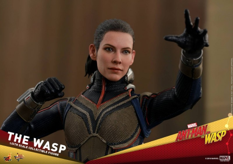 hot toys the wasp figure -wide shot