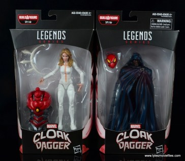 marvel legends cloak and dagger figure review - package front