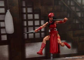 marvel legends elektra figure review -leaping