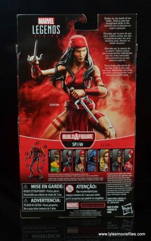 marvel legends elektra figure review -package rear