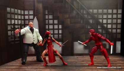 marvel legends elektra figure review -protecting kingpin