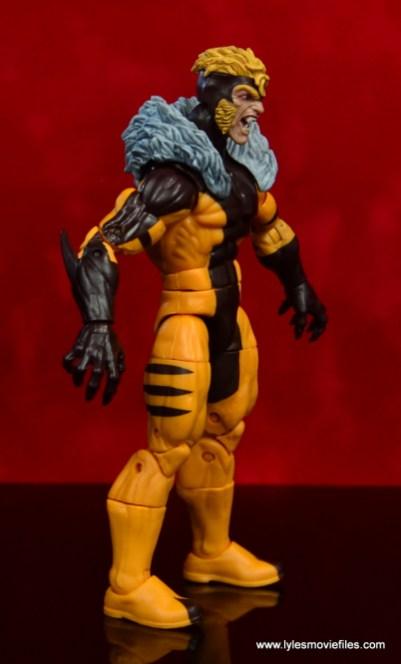 marvel legends sabretooth figure review - right side