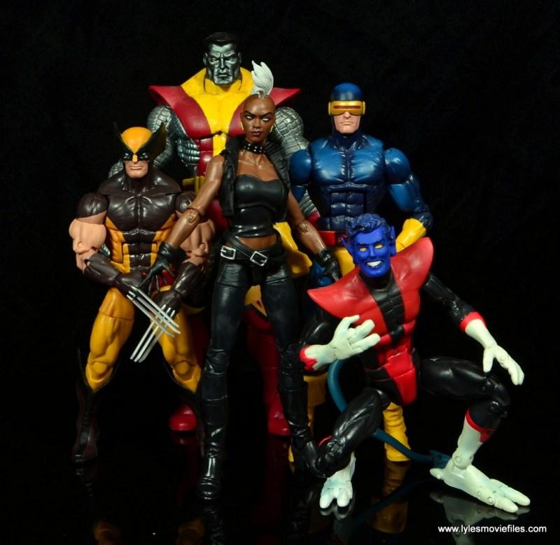 marvel legends storm figure review - with x-men