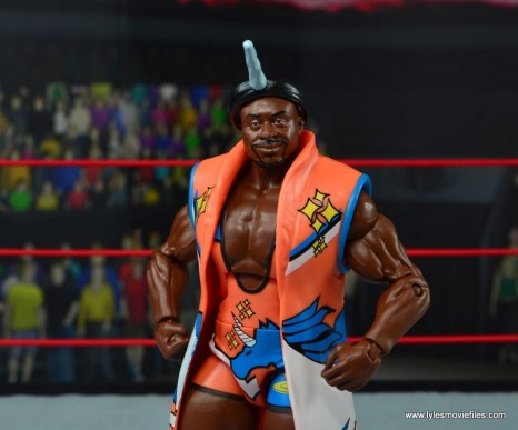 wwe elite 53 big e figure review - with robe and unicorn horn