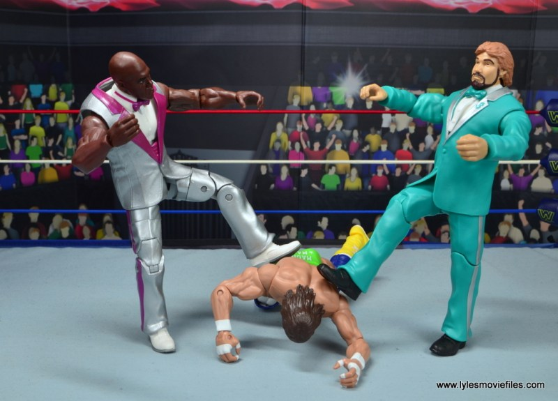 wwe elite virgil figure review -attacking macho man with million dollar man