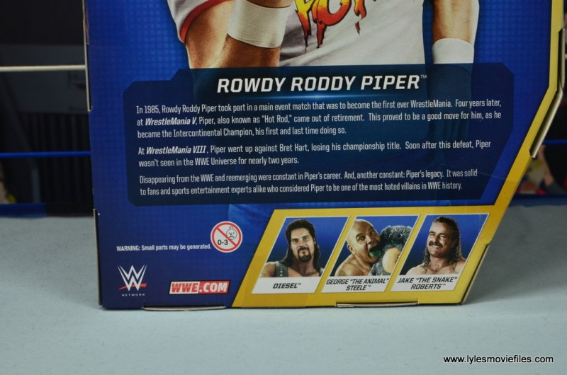 wwe hall of fame rowdy roddy piper figure review - bio