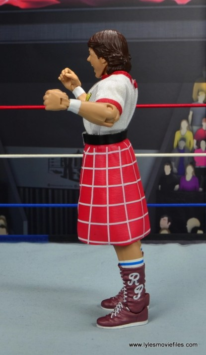 wwe hall of fame rowdy roddy piper figure review - left side