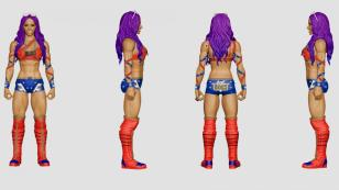 wwe sdcc18 reveals -sasha banks wonder woman basic