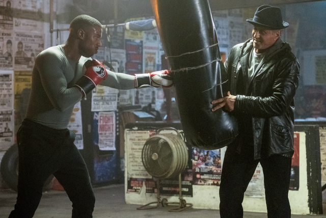 creed ii images - michael b. jordan and sylvester stallone