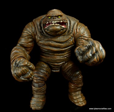 dc multiverse collect and connect clayface figure review -arms up