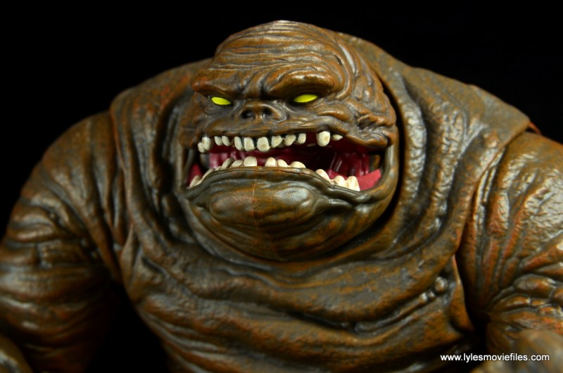 dc multiverse collect and connect clayface figure review -head close up left side