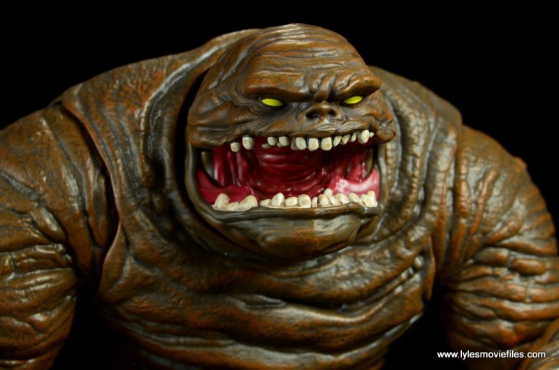 dc multiverse collect and connect clayface figure review - head close up right side