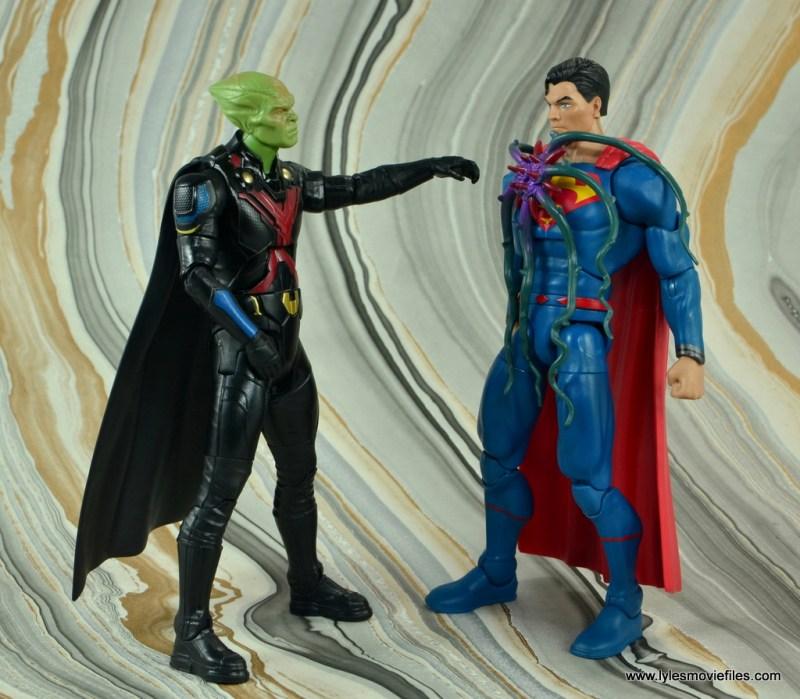 dc multiverse martian manhunter figure review - taking black mercy off superman