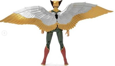 dc multiverse promotional images - hawkgirl rear