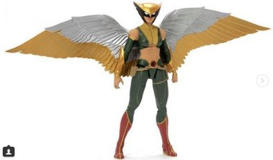 dc multiverse promotional images - hawkgirl