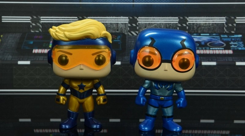 funko pop blue beetle and booster gold figure review -main pic