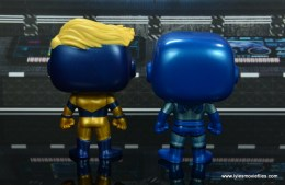 funko pop blue beetle and booster gold figure review -rear