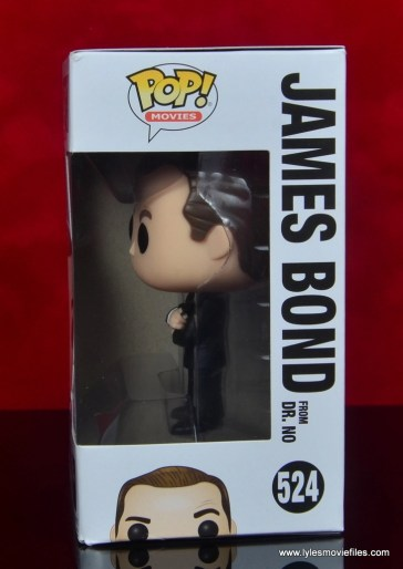 funko pop james bond figure review - package left side