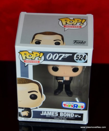 funko pop james bond figure review - package top