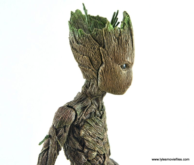 hot toys avengers infinity war groot and rocket review - groot face plate line