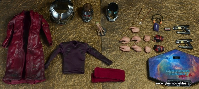 hot toys guardians of the galaxy vol. 2 star-lord figure review -accessories