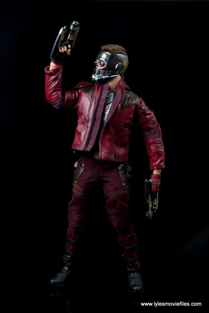 hot toys guardians of the galaxy vol. 2 star-lord figure review blaster up