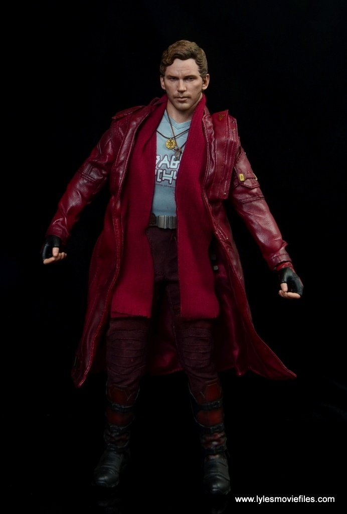 hot toys guardians of the galaxy vol. 2 star-lord figure review trench coat and scarf