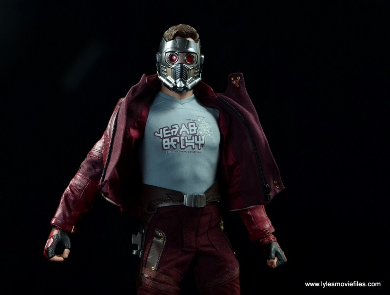 hot toys guardians of the galaxy vol. 2 star-lord figure review wide shot with helmet
