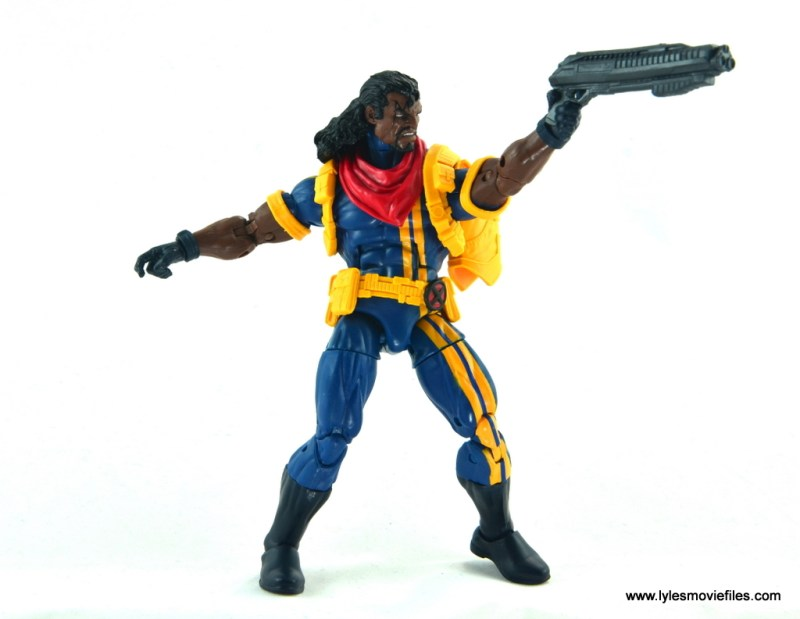 marvel legends bishop action figure review - aiming blaster