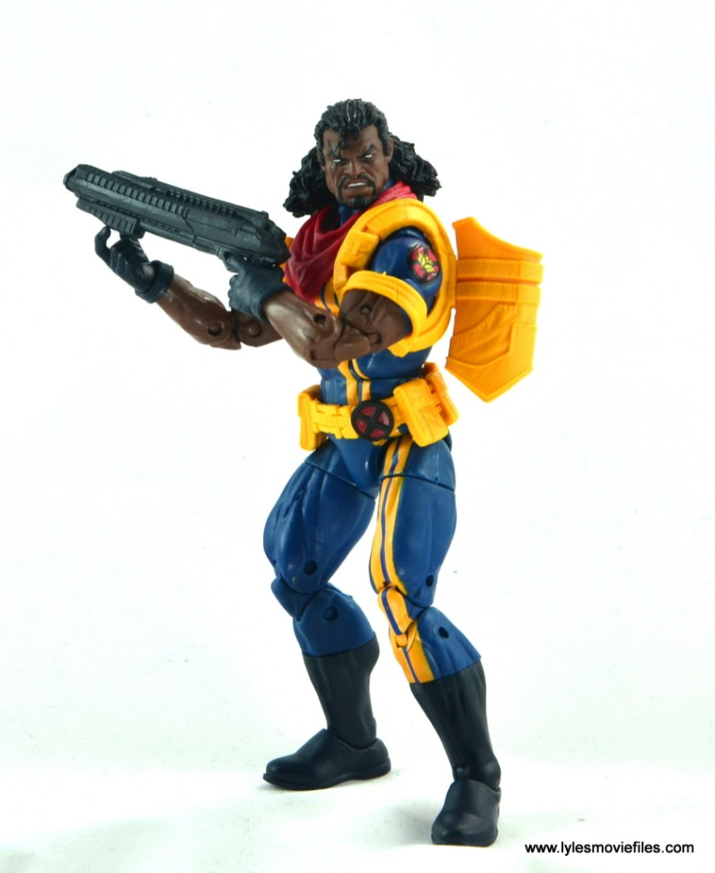 marvel legends bishop action figure review - cradling shotgun