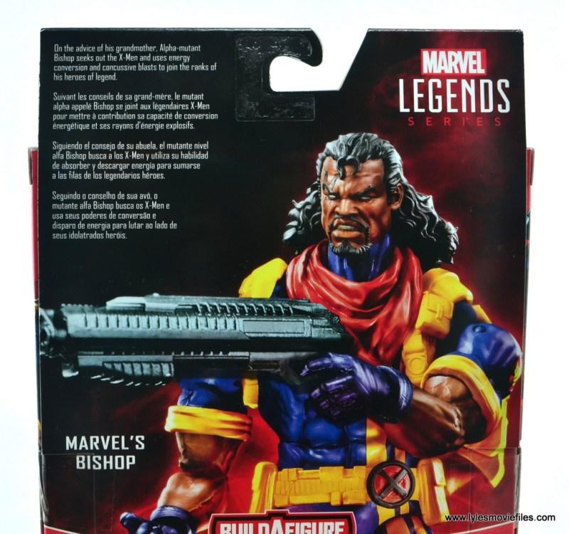 marvel legends bishop action figure review - package bio