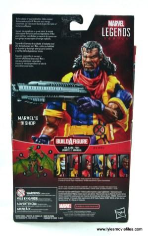 marvel legends bishop action figure review - package rear