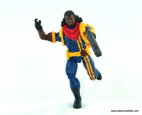 marvel legends bishop action figure review - running