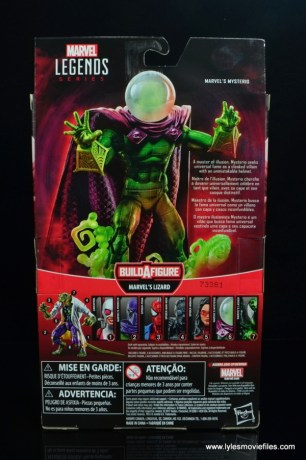 marvel legends mysterio figure review -package rear