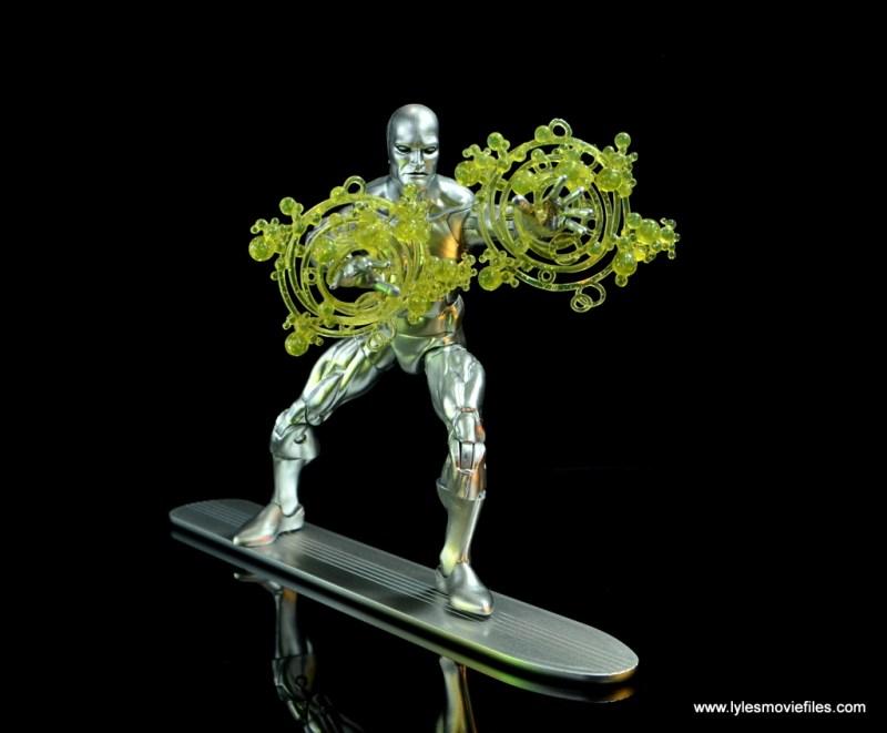 marvel legends silver surfer figure review -firing power cosmic
