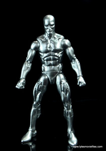marvel legends silver surfer figure review -front