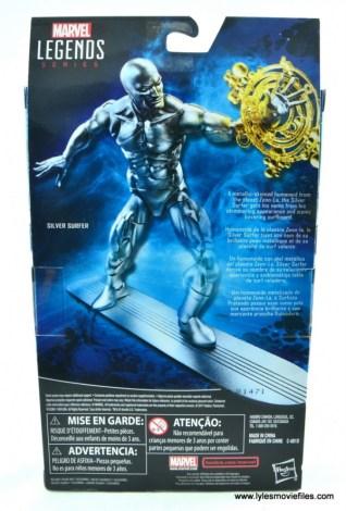 marvel legends silver surfer figure review -package rear