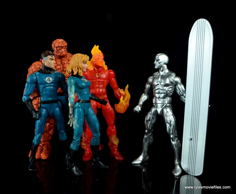 marvel legends silver surfer figure review -with fantastic four