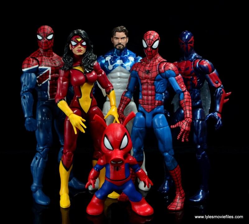 marvel legends spider-ham figure review -spider-verse