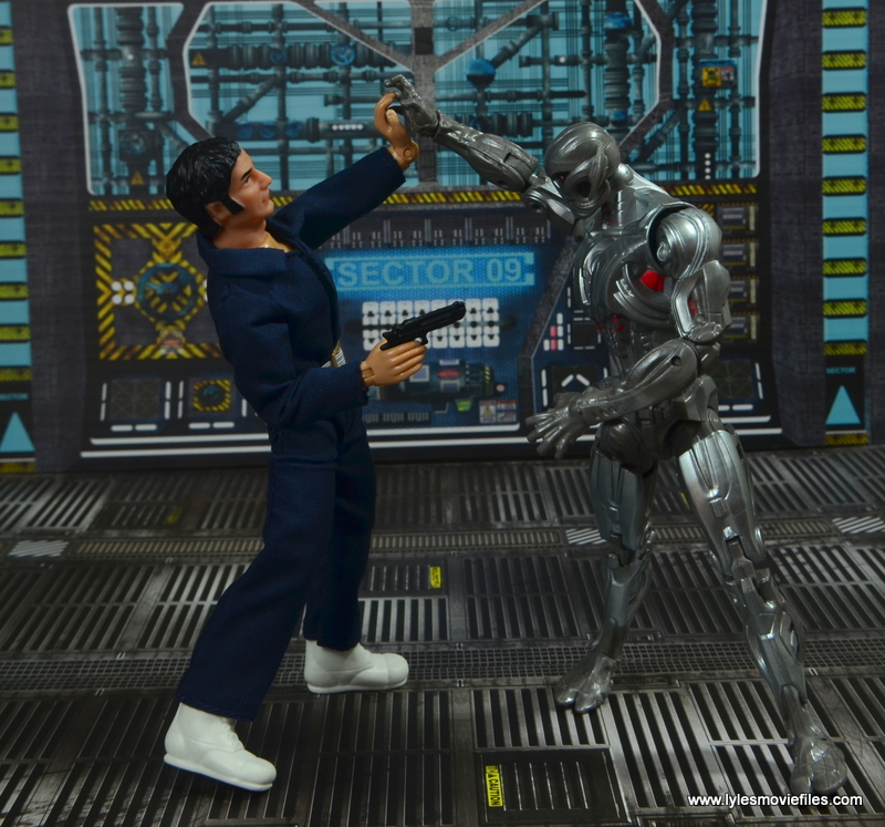mego action jackson figure review - fighting ultron