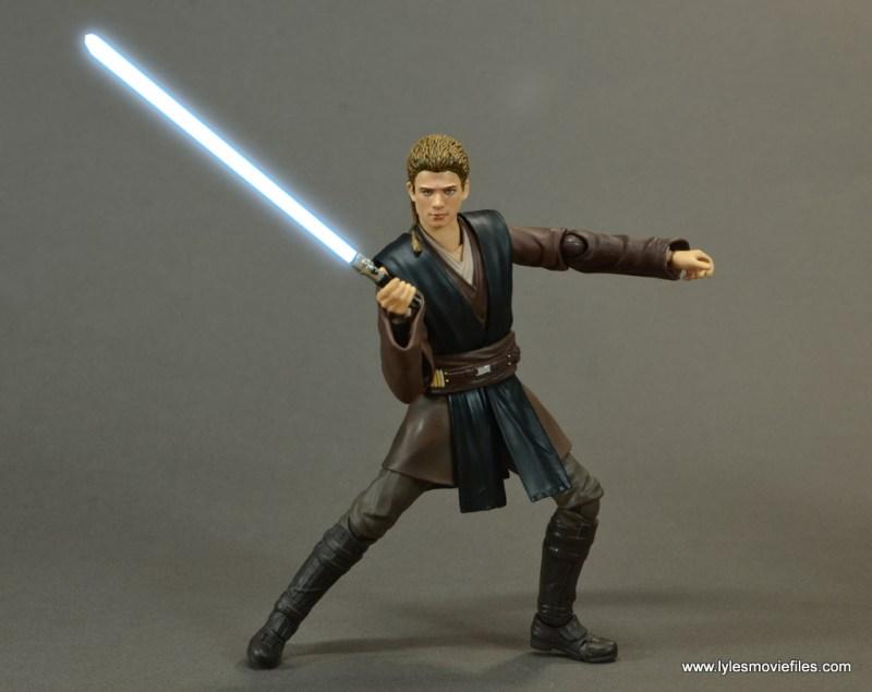 sh figuarts anakin skywalker figure review - action stance lightsaber