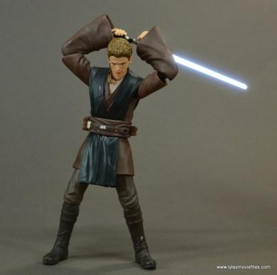 sh figuarts anakin skywalker figure review -raising lightsaber lit