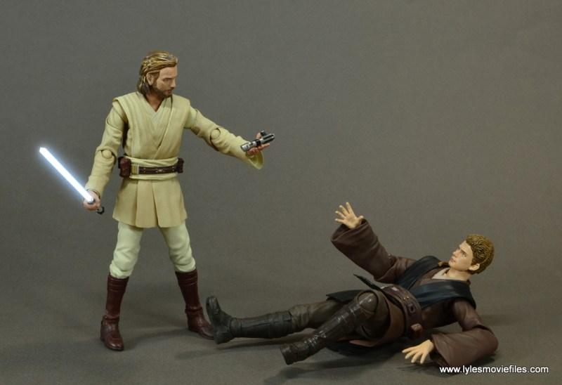 sh figuarts anakin skywalker figure review -training with obi-wan lightsaber
