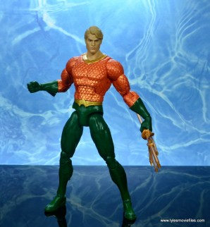 dc essentials aquaman action figure review - battle ready