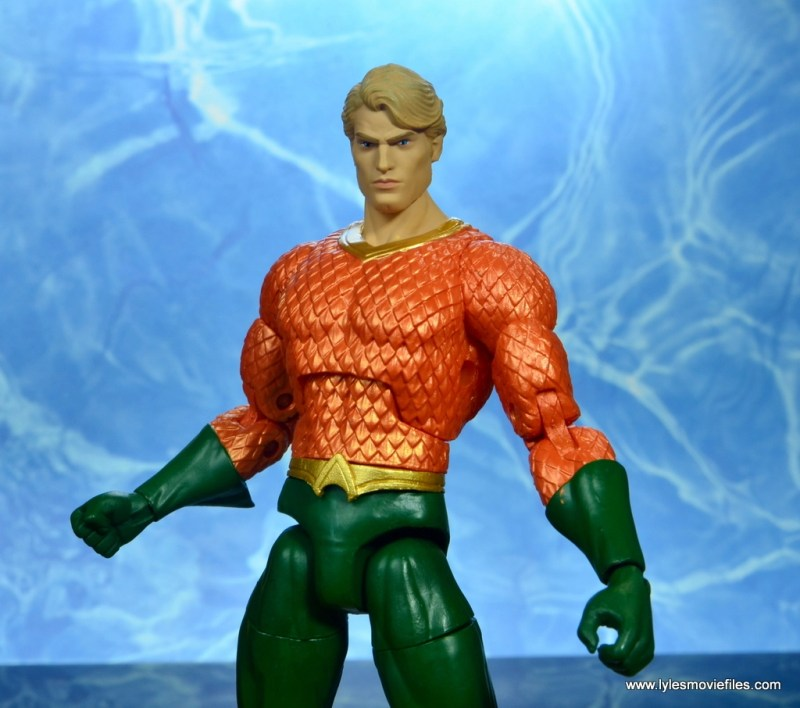 dc essentials aquaman action figure review - wide shot