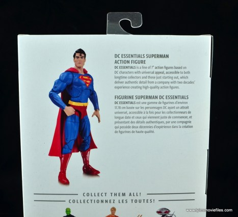 dc essentials superman review - package bio