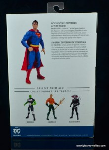 dc essentials superman review - package rear