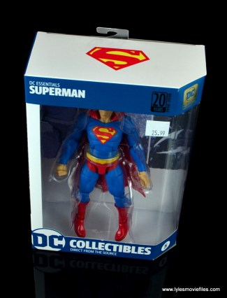dc essentials superman review - package top