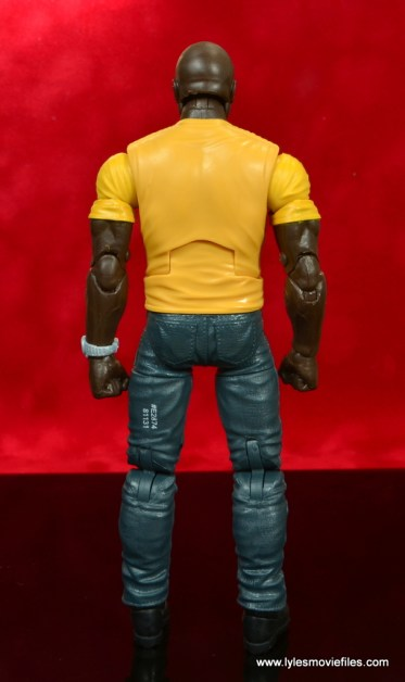 marvel legends luke cage and claire figure review -cage rear